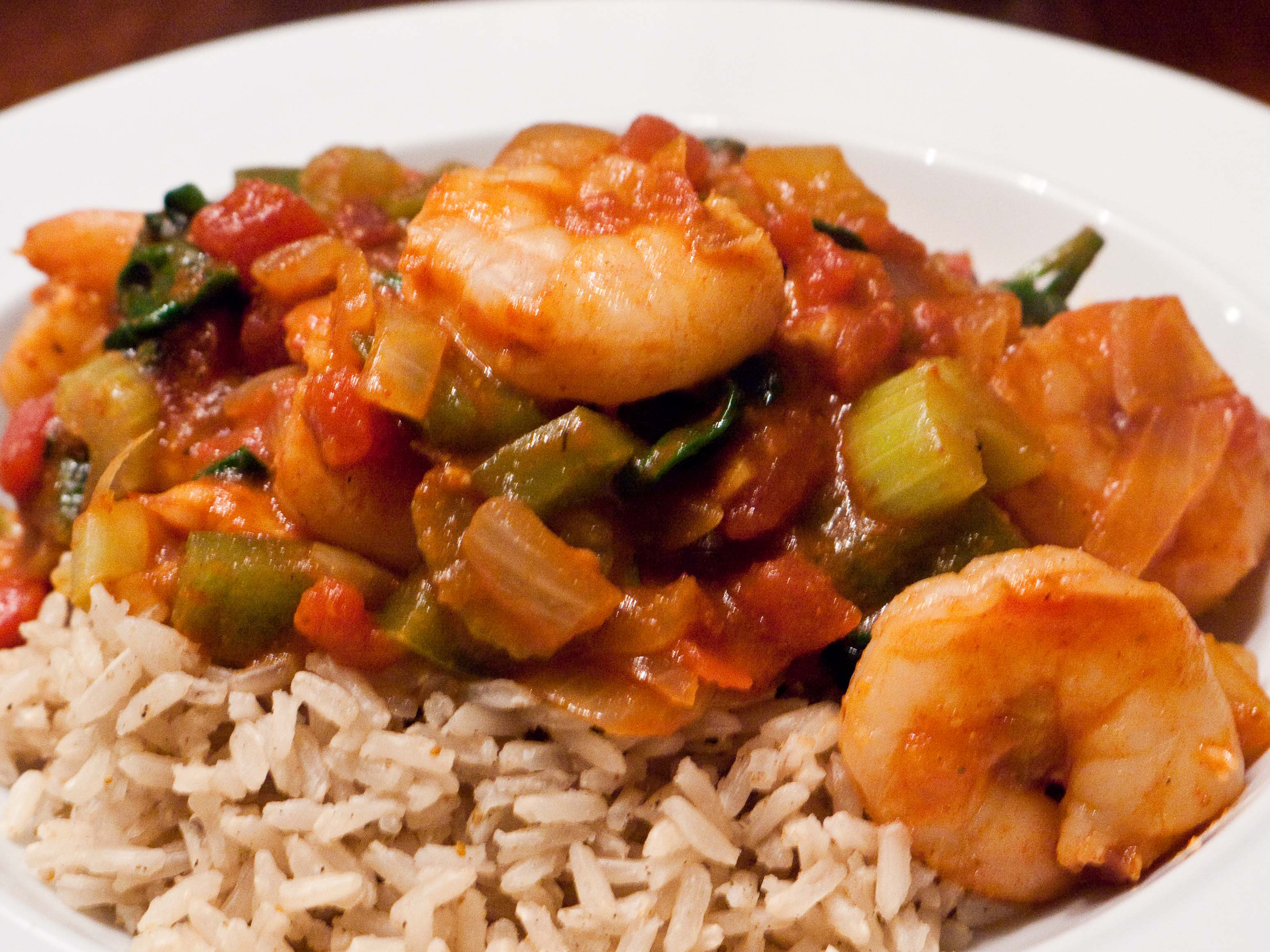 Shrimp Jambalaya - Food & Fire