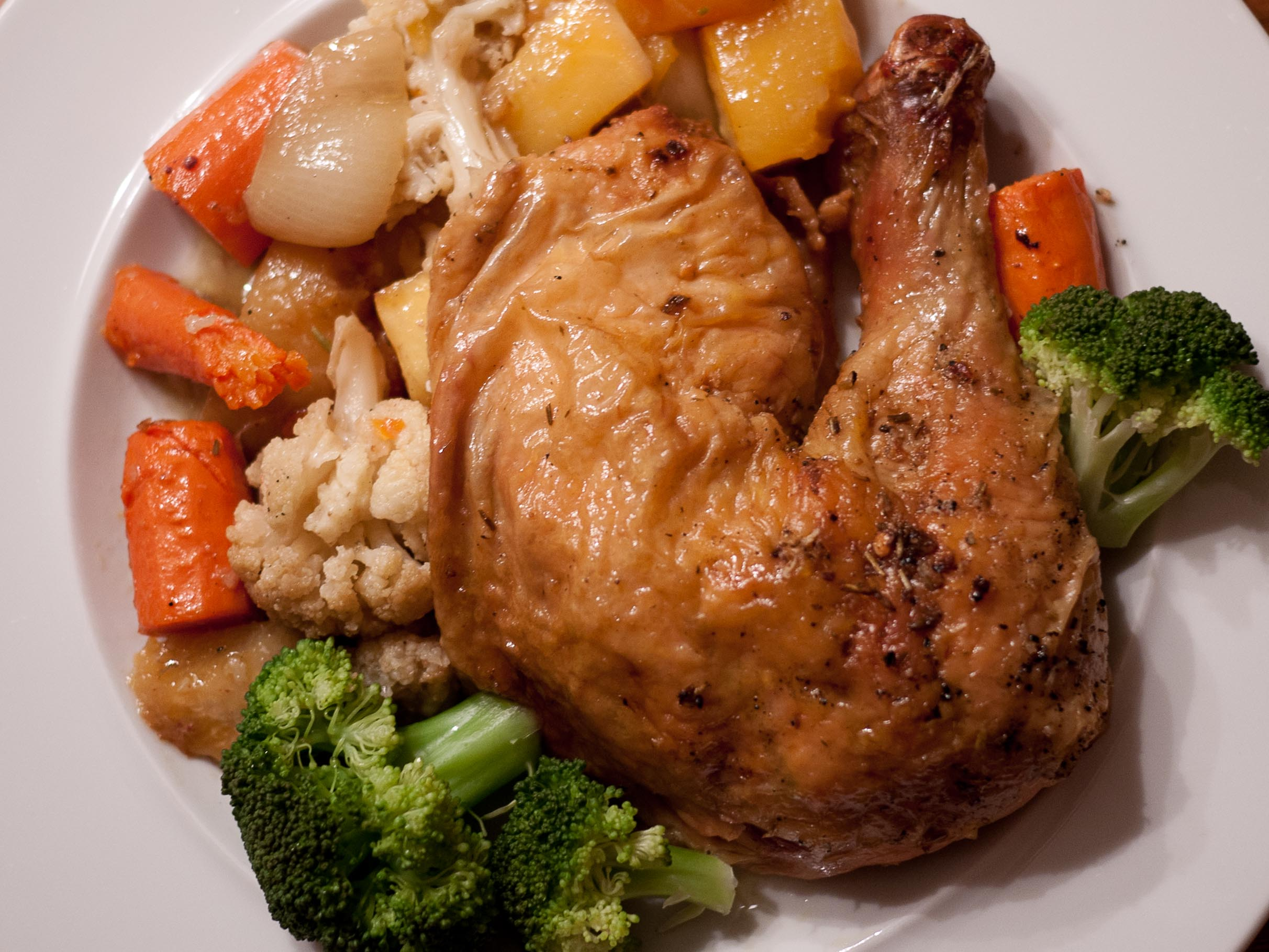 Roast Chicken with Winter Veggies - Food & Fire