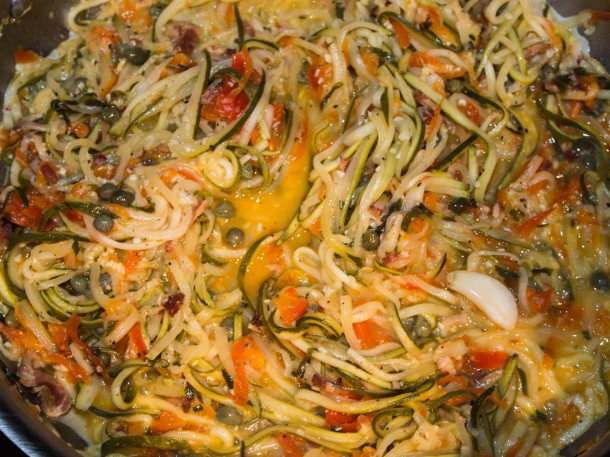 Zuccaghetti with Lemon Caper Sauce - Food & Fire